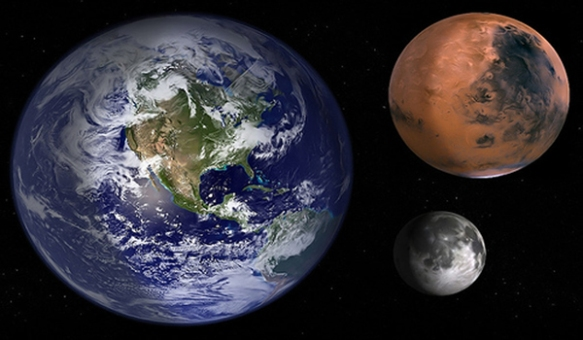Pamant Luna Marte